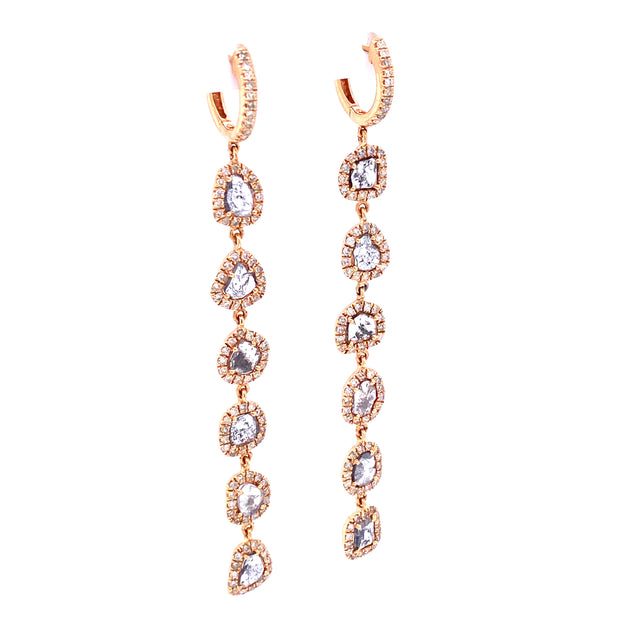 Karen Long Rose Earrings