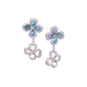 Julia Fleurs Bleu Earrings