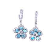 Fiora Fleur Bleu Earrings