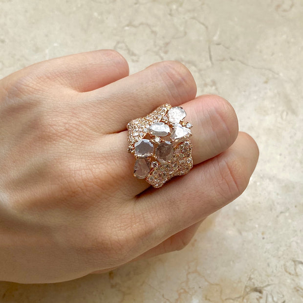 Majesty Crazy Horse Rose Ring