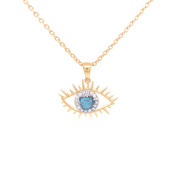 Tichi 'Evil Eye'  - Yellow Gold Necklace