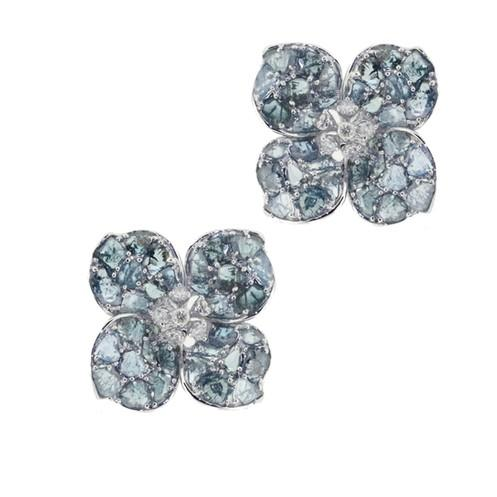 Fiore Bleu Earrings