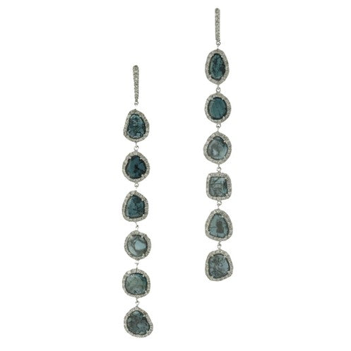 Karen Long Bleu Earrings