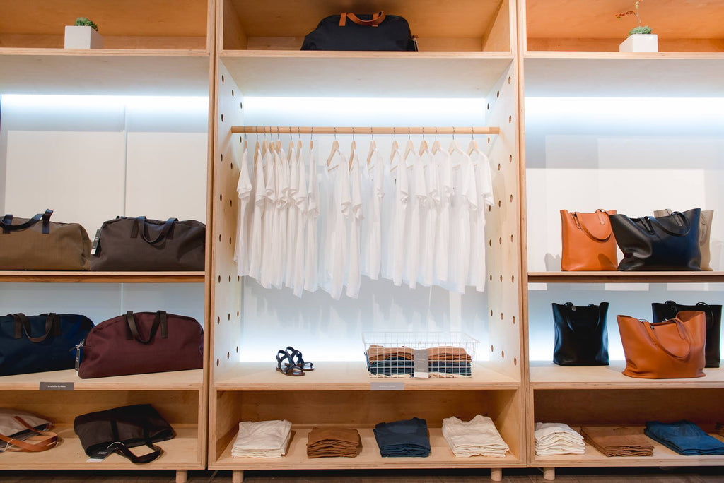 Simple cotton t-shirts that won't break the bank at Everlane's Soho Open House via Simply Framed