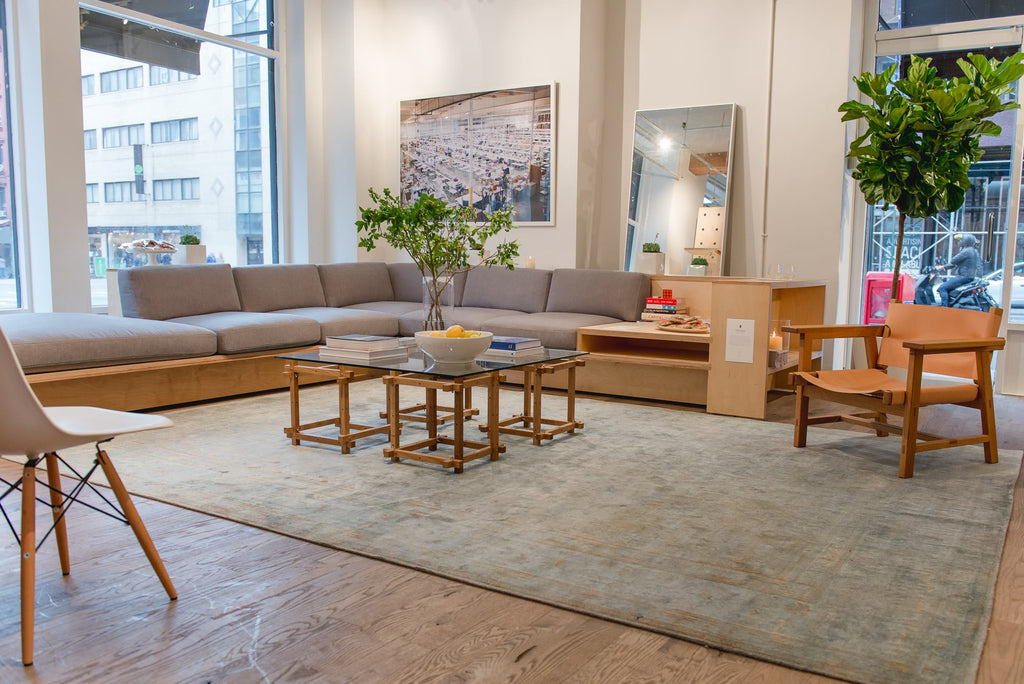 Oversized, over the sofa photograph framed by Simply Framed at the Everlane Soho Open House