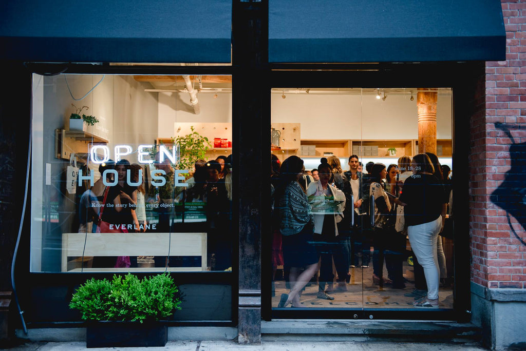 Everlane's Soho Open House via Simply Framed