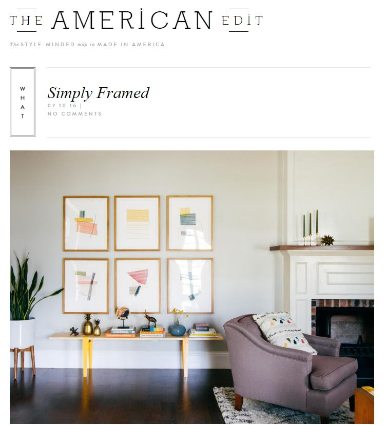 the american edit and simply framed