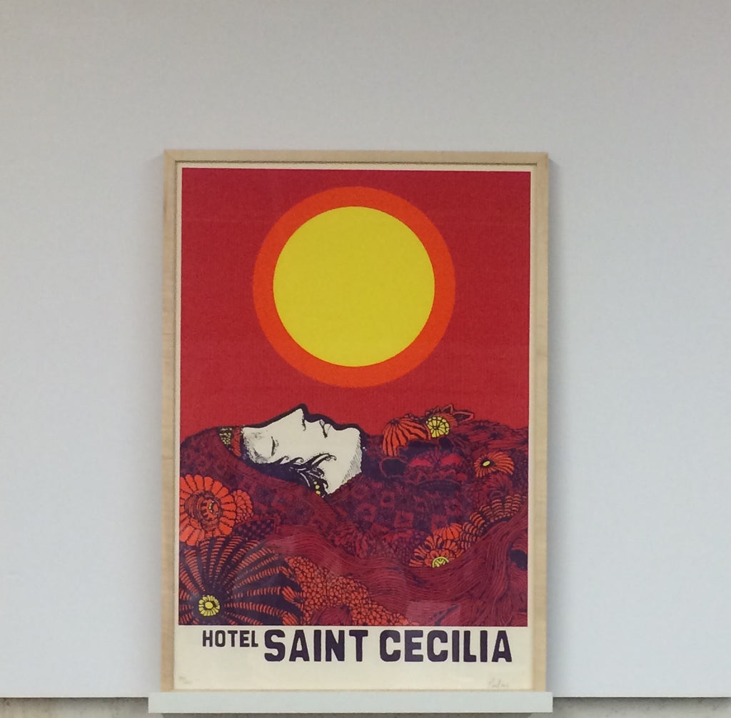 hotel saint cecilia print natural wood gallery frame