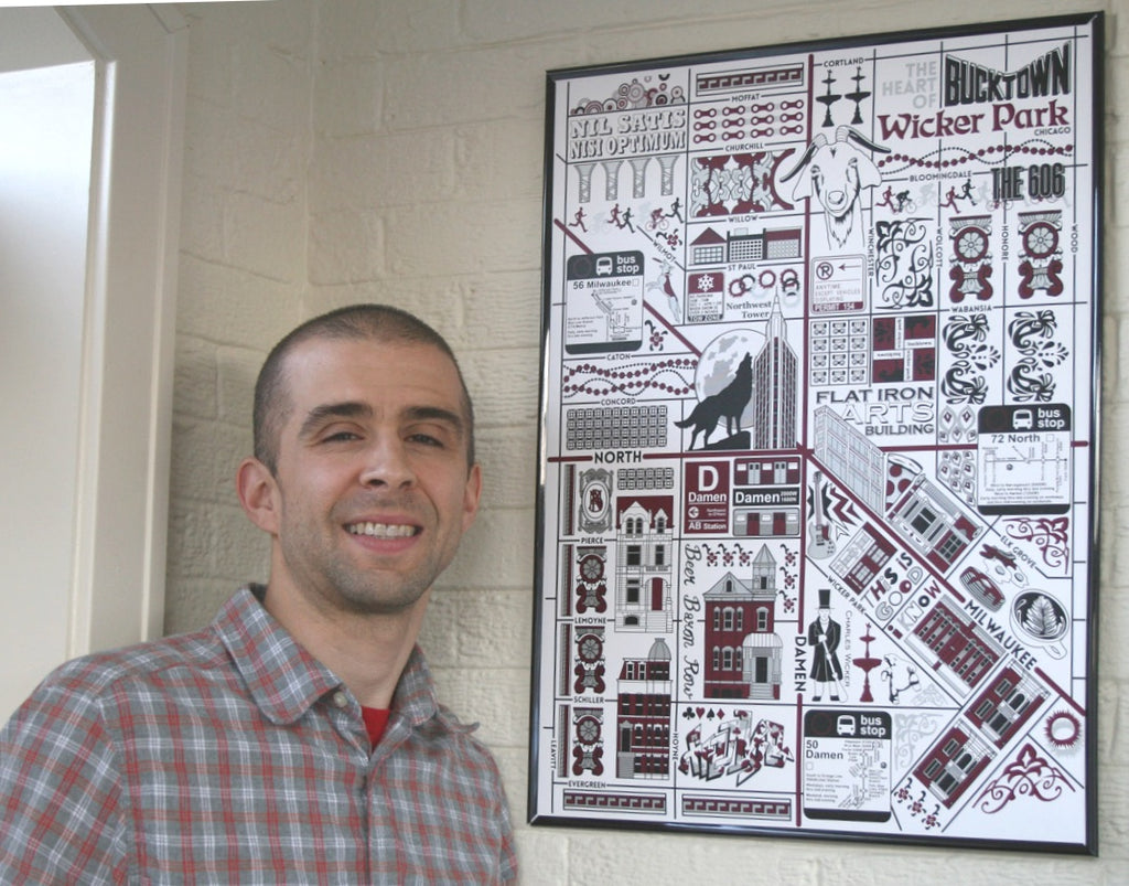 Joe Mills Bucktown Wicker Park Map
