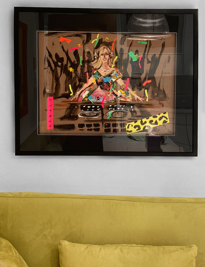 original portrait of DJ Mad Marj by Donald Robertson