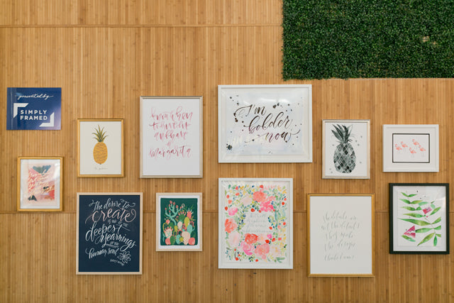 A gallery wall giveaway via Simply Framed and Oh So Beautiful Paper