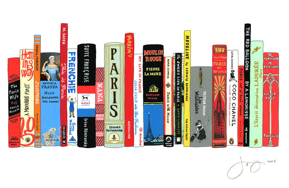 Ideal Bookshelf, Paris collection via Simply Framed