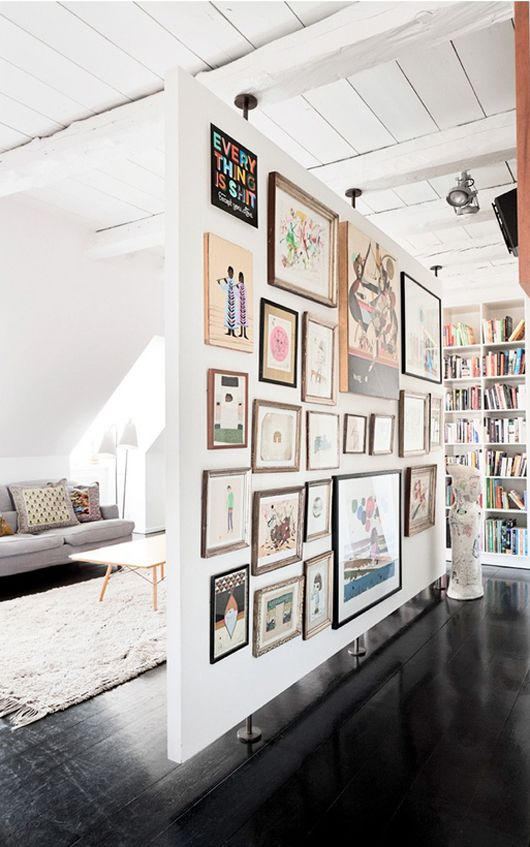 Eclectic gallery wall via Remodelista, Simply Framed
