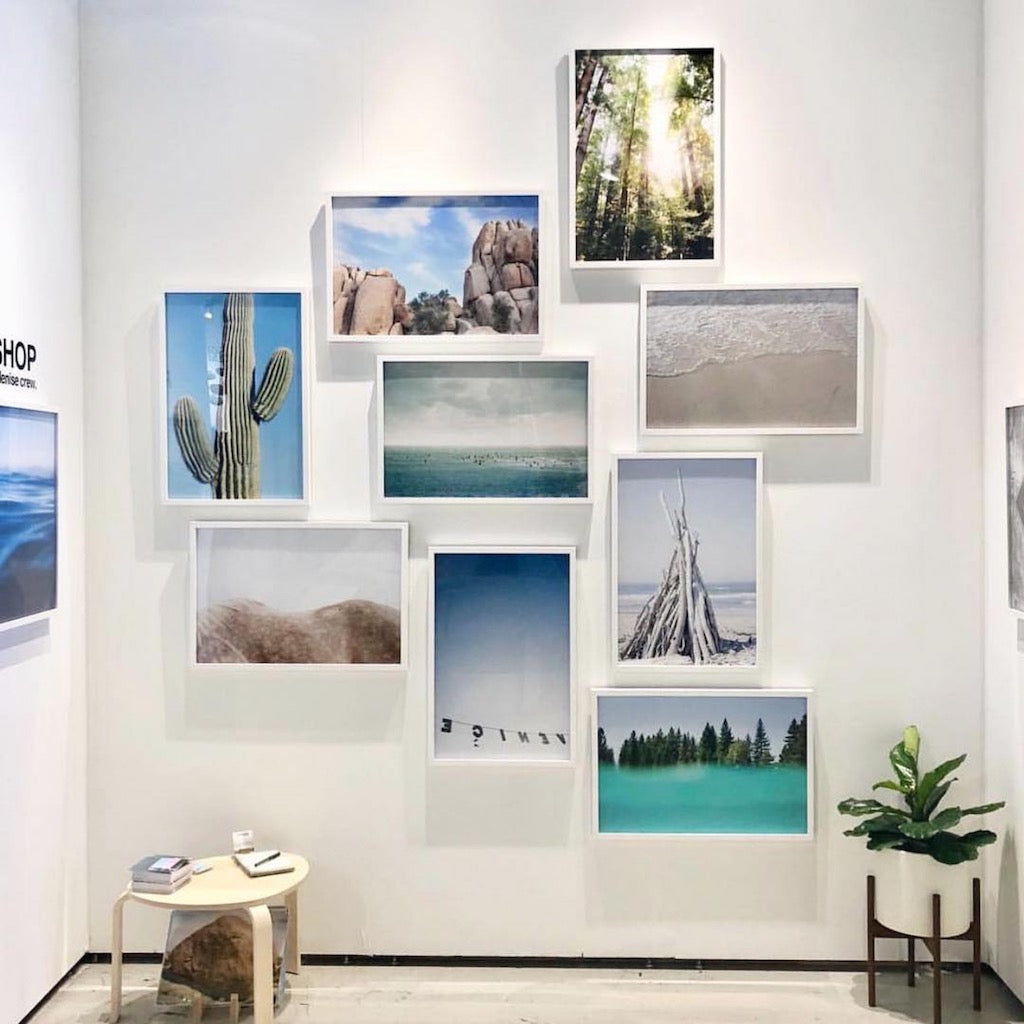 custom framed travel photo gallery wall by Denise Crew