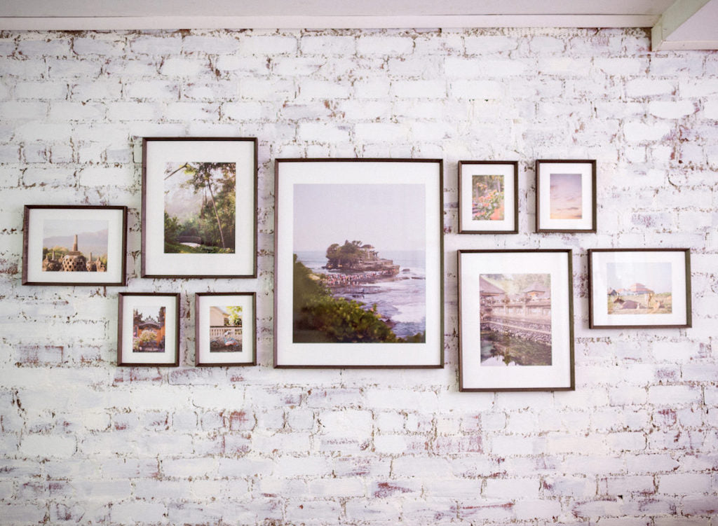 travel photo gallery wall