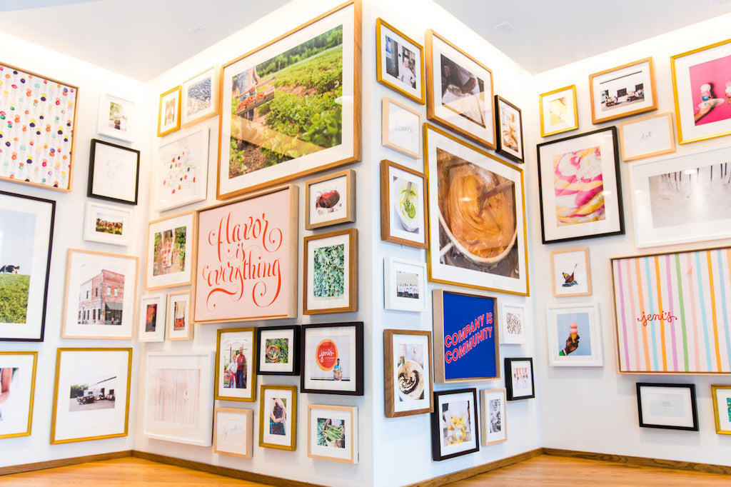 Jeni's ice creams gallery wall