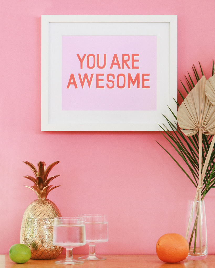 you are awesome by banquet workshop, custom framed by simply framed