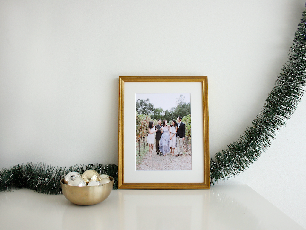 simply framed custom framed family photo