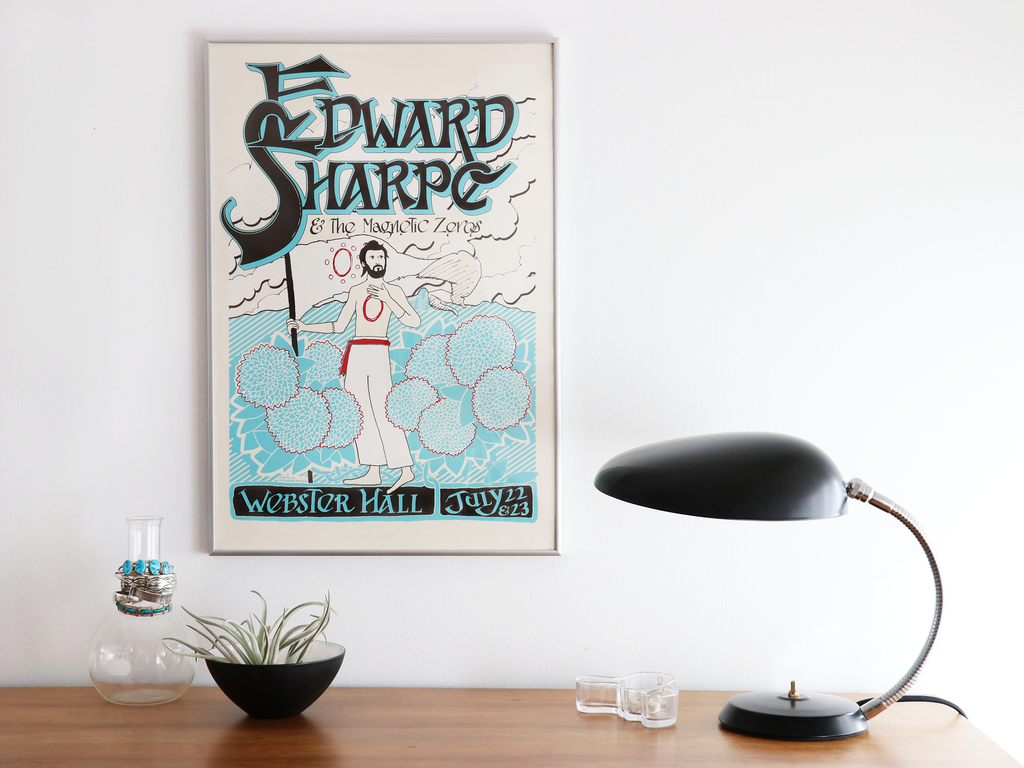 custom framed edward sharpe poster
