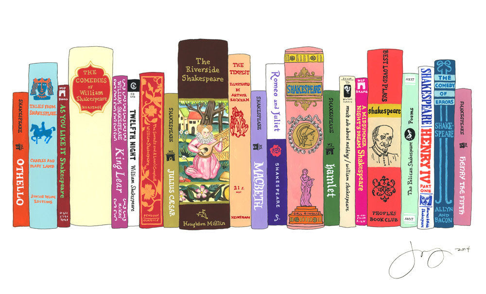 Shakespeare collection from Ideal Bookshelf via Simply Framed