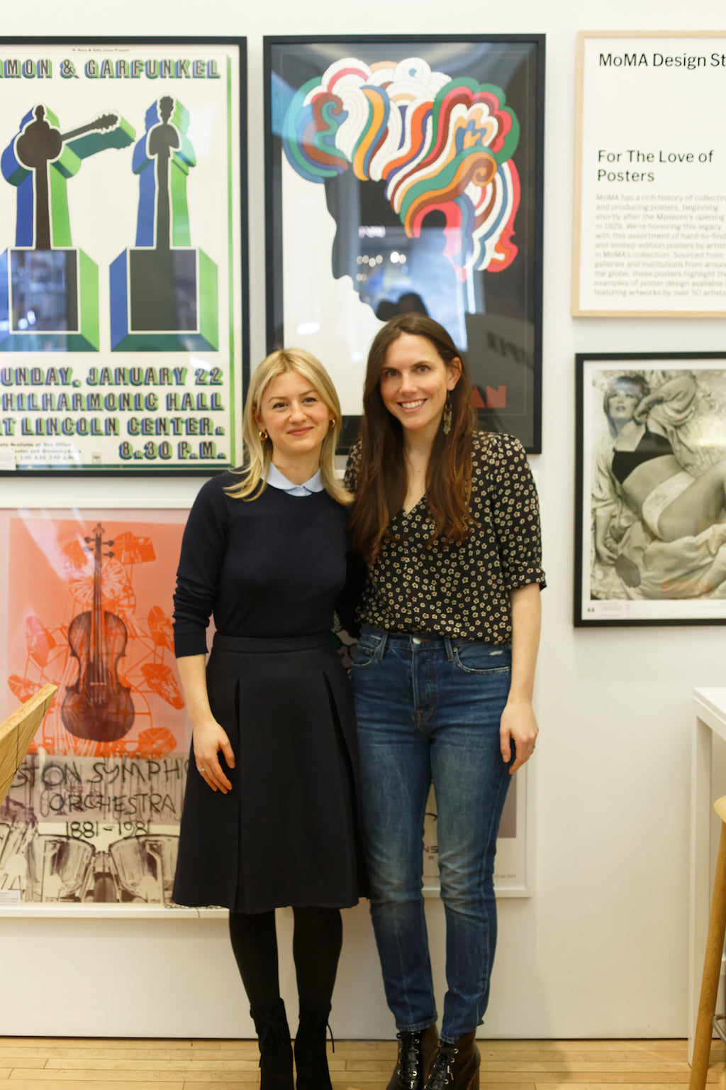 Dara Deshe Segal and Alyssa Kapito at MoMA Design Store in Soho