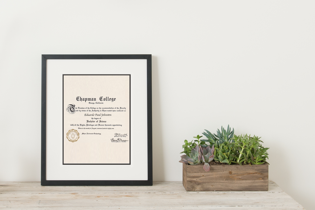 Simply Framed Black Gallery Frame Double Mat Diploma