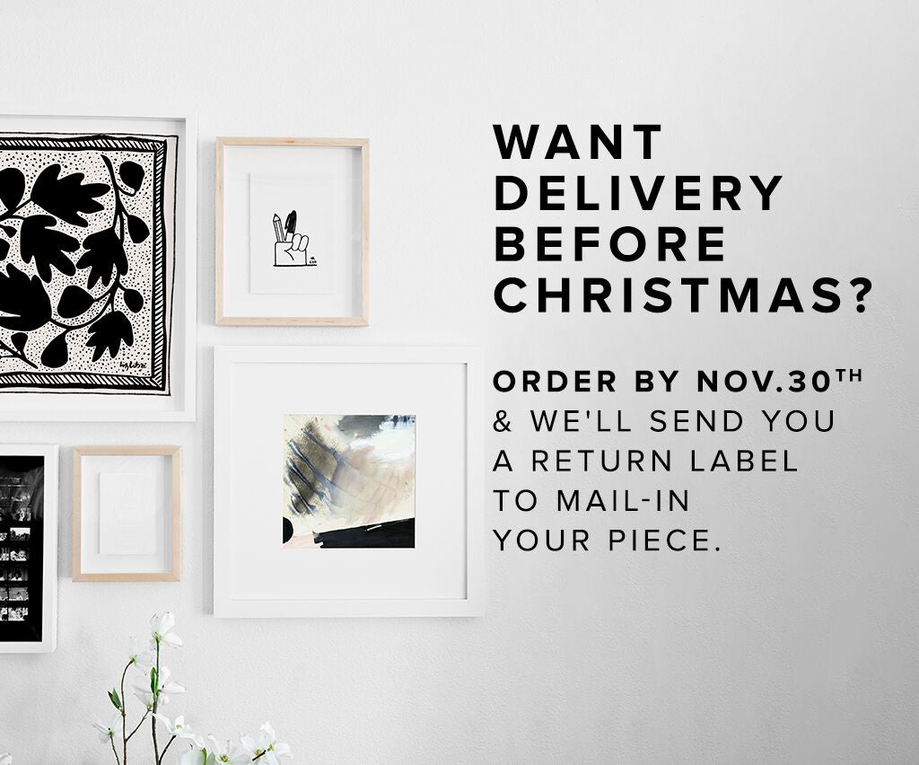 Simply Framed Holiday Shipping Deadlines