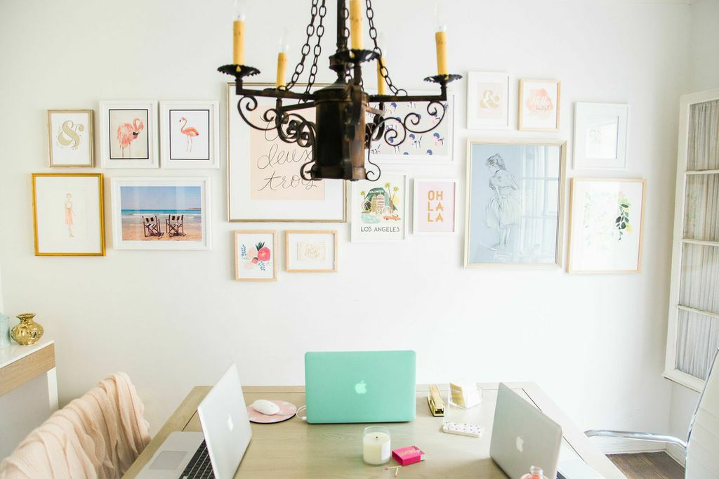 A Simply Framed gallery wall for Lauren Conrad via laurenconrad.com