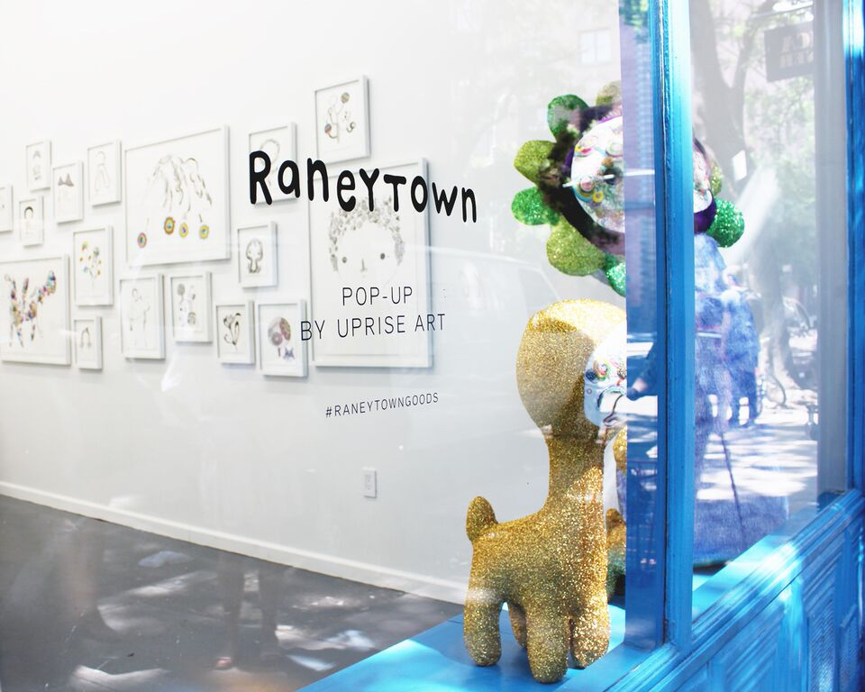 Uprise Art and Rebecca Raney's Pop-Up shop
