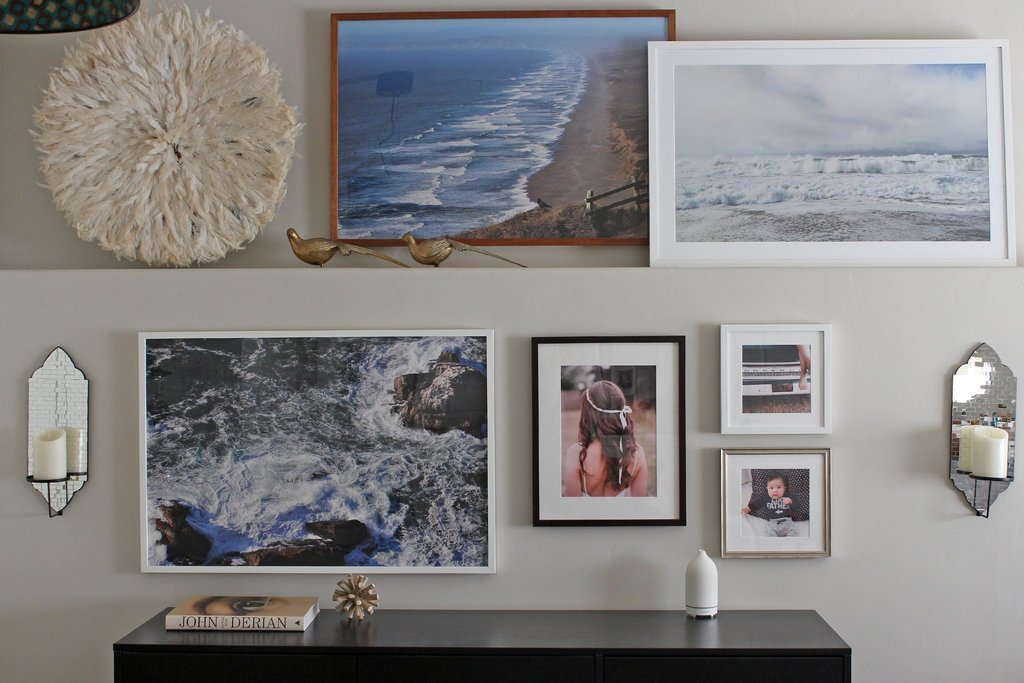 popsugar x simply framed gallery wall
