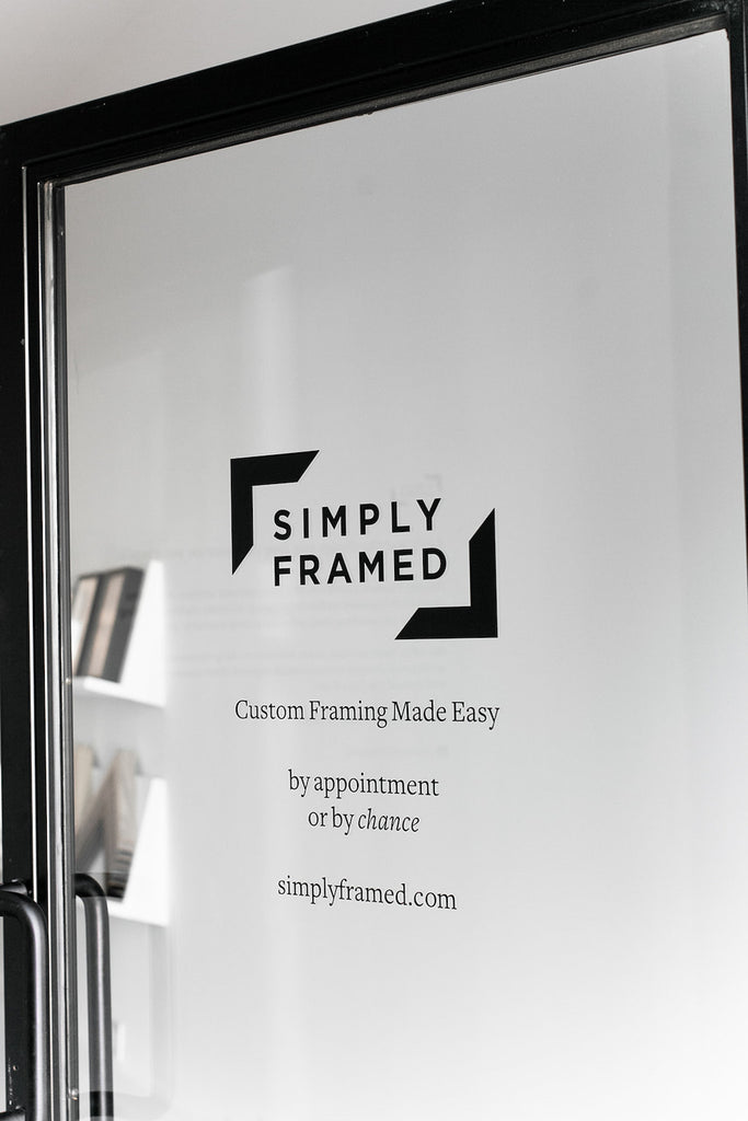 simply framed showroom