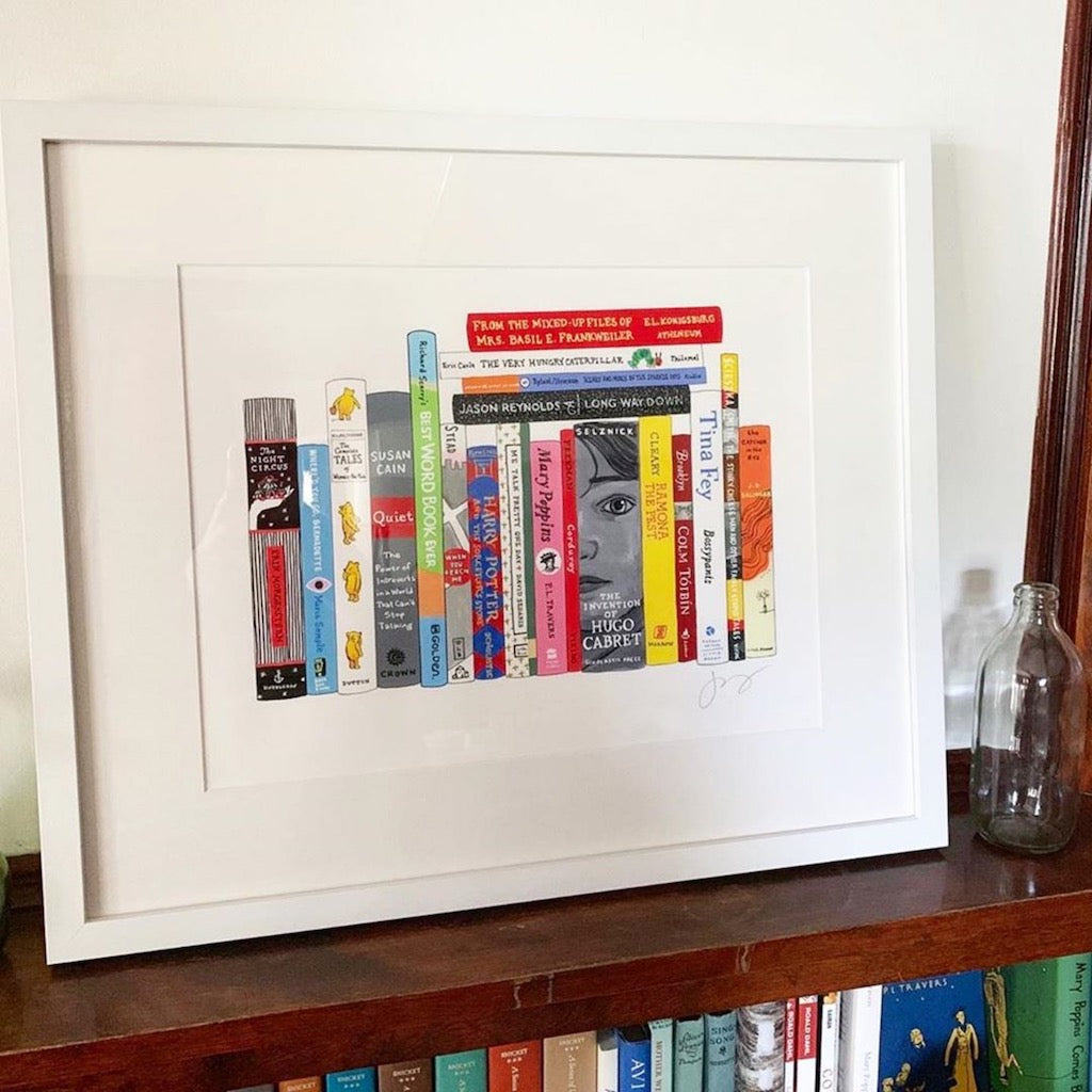 simply framed gift guide Jane Mount ideal bookshelf
