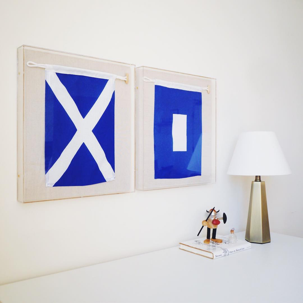 simply framed custom framing sailing flags
