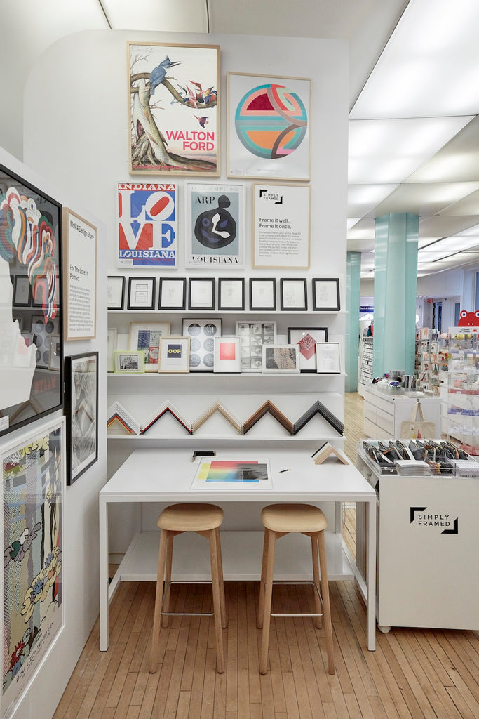 simply framed moma print shop pop up