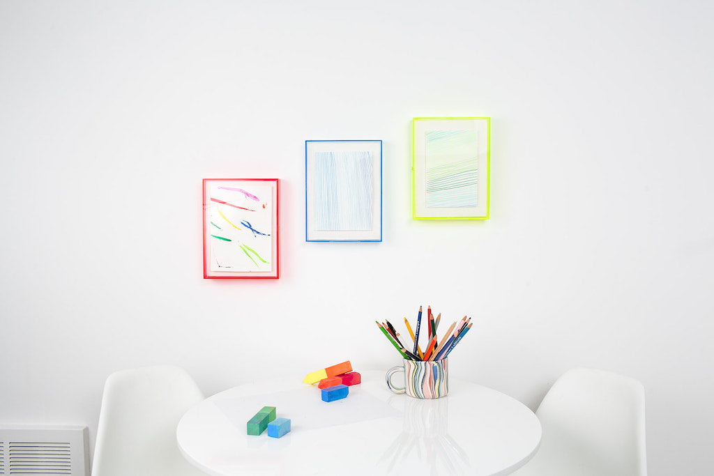 simply framed neon plexibox