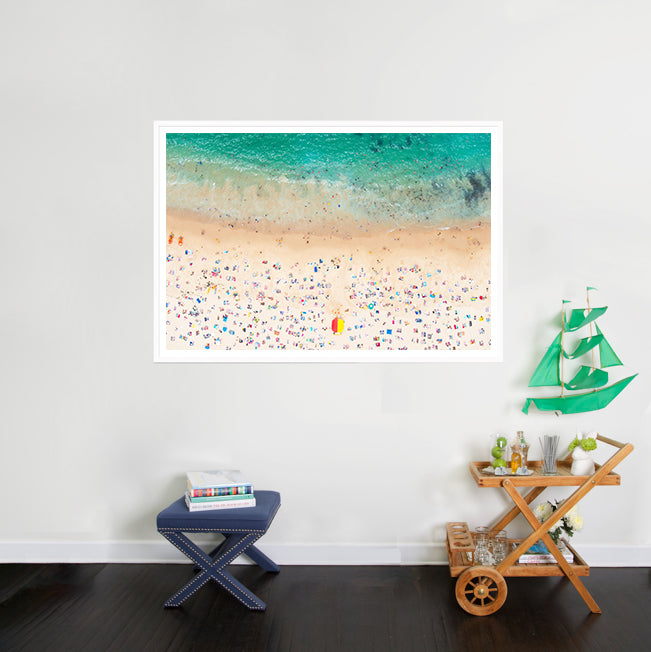 Coogee Beach photograph in the home of Gray Malin via Simply Framed