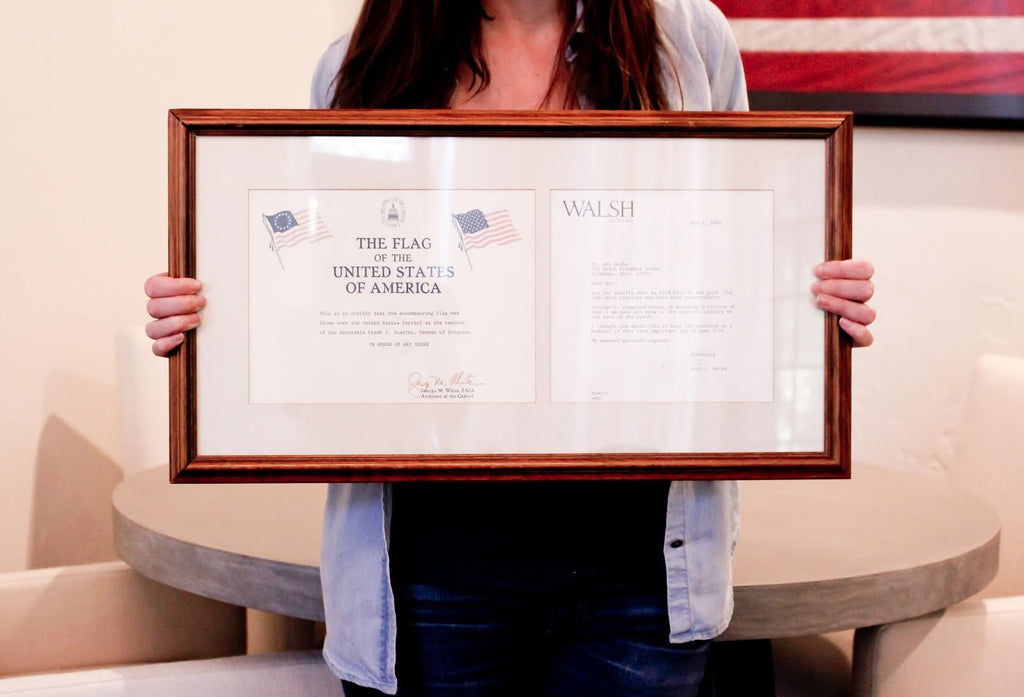 Simply Framed's Dara Segal on a very special American flag