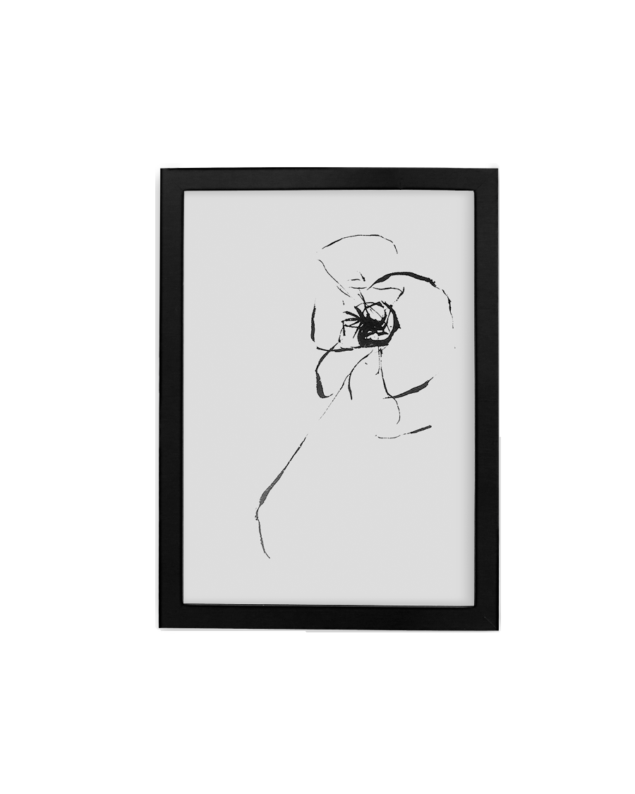 Up to 30x30 Black Gallery frame, 99% UV Plexi