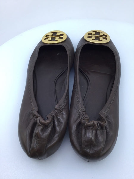 Tory Burch Reva Ballet Flats Brown Size 10