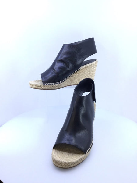 Celine Espadrille Wedges ~ Size 39 Black Phoebe Philo Collection