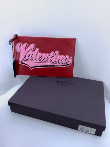 Valentino Varsity Clutch New Authentic