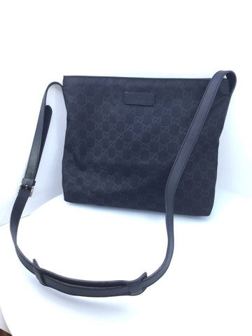 Gucci Black Crossbody Bag GG Messenger