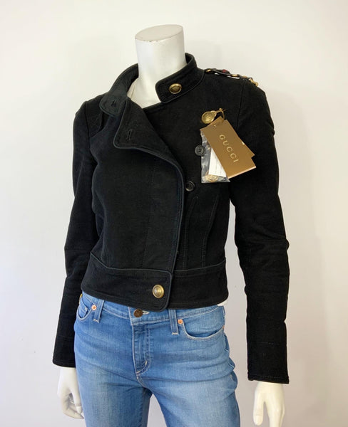 Gucci Jacket with leather trim and elbow patch Size 40