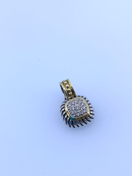 David Yurman 18K 925 Diamond Pendant