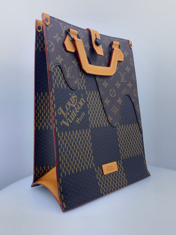 Louis Vuitton x Nigo Handbag Limited Edition Giant Damier and Monogram Canvas Mini