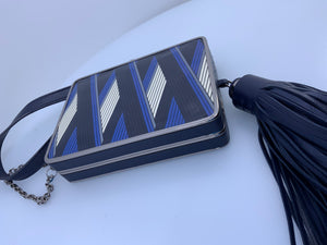 Tory Burch Mod style Striped Handbag Clutch