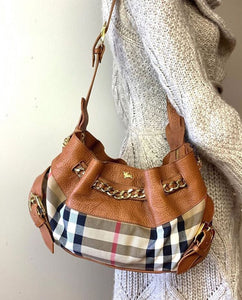 Burberry Margaret Nova Check Shoulder Bag