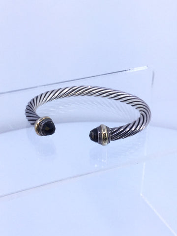 David Yurman 7mm Cable Bracelet Brown Quartz
