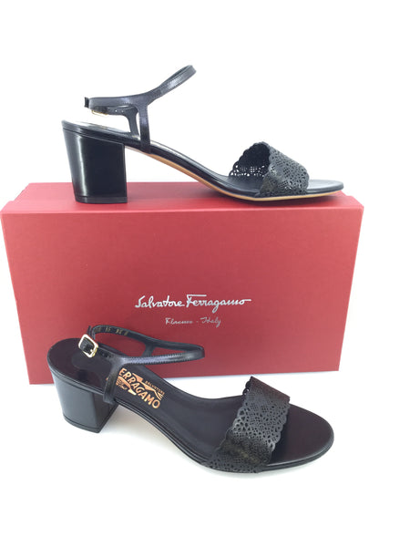 Salvatore Ferragamo Block Heel Sandals Size 9.5
