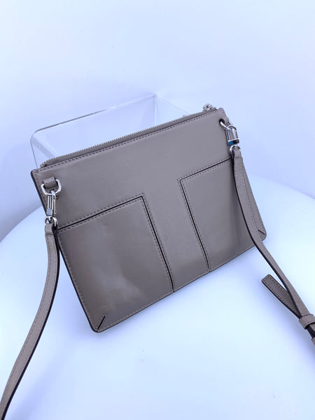 Tory Burch Mini Block Grommet CrossbodyPutty Grey